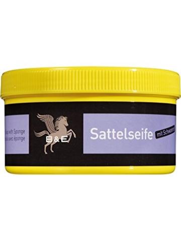 B & E Sattelseife mit Schwamm - 250 ml - 1