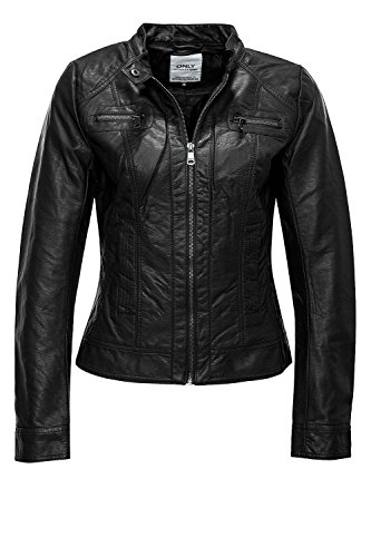 Only Damen Kunstlederjacke Taifun PU Jacket 15098439 Black XL - 1