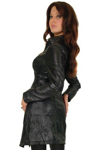 Damen Lederjacke in schwarz, figurbetonter Schnitt mit Zipper Gr. L/14 Modell S90 - 2