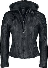 Gipsy Damen Lederjacke Chasey LDDV, Gr. 40 (Herstellergröße: L), Schwarz (black 1) - 1